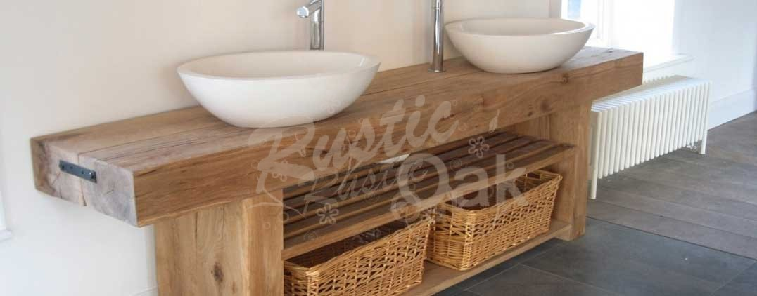 oak sink table