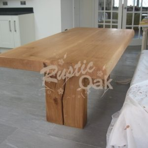 DT20 Pedstal Base Dining Table with Waney Edge 3