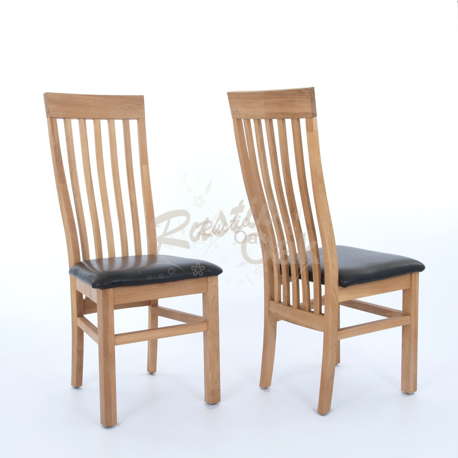 / Dining Chairs / Sherwood Oak – Dining Chair With Black Seat. Full resolution‎  portraiture, nominally Width 1500 Height 1500 pixels, portraiture with #436688.