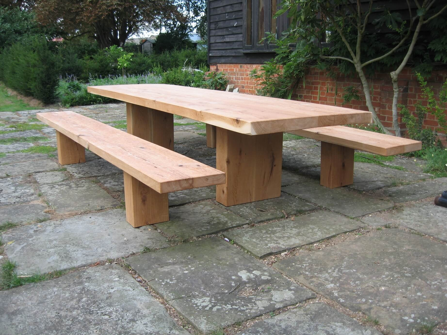 rustic treated pressure garden outdoors benches duty bench co amazon picnic hand brown dp uk made style heavy table pub