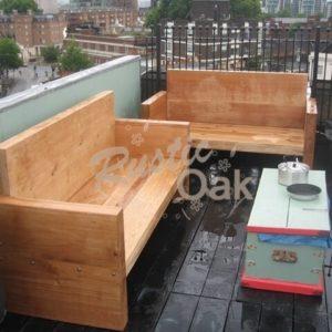 BH17 Oak Beam Garden Sofa 1