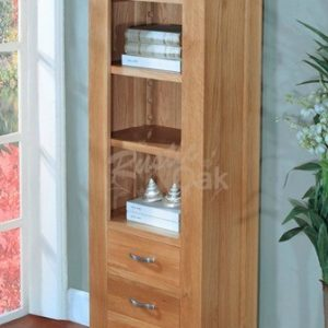 BSTBK2-Santana-Blonde-Slim-Bookcase-with-3-drawers-300x300