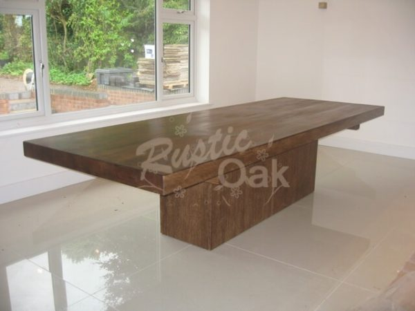 Cube based dining table rustic oak - Cube table basse ...