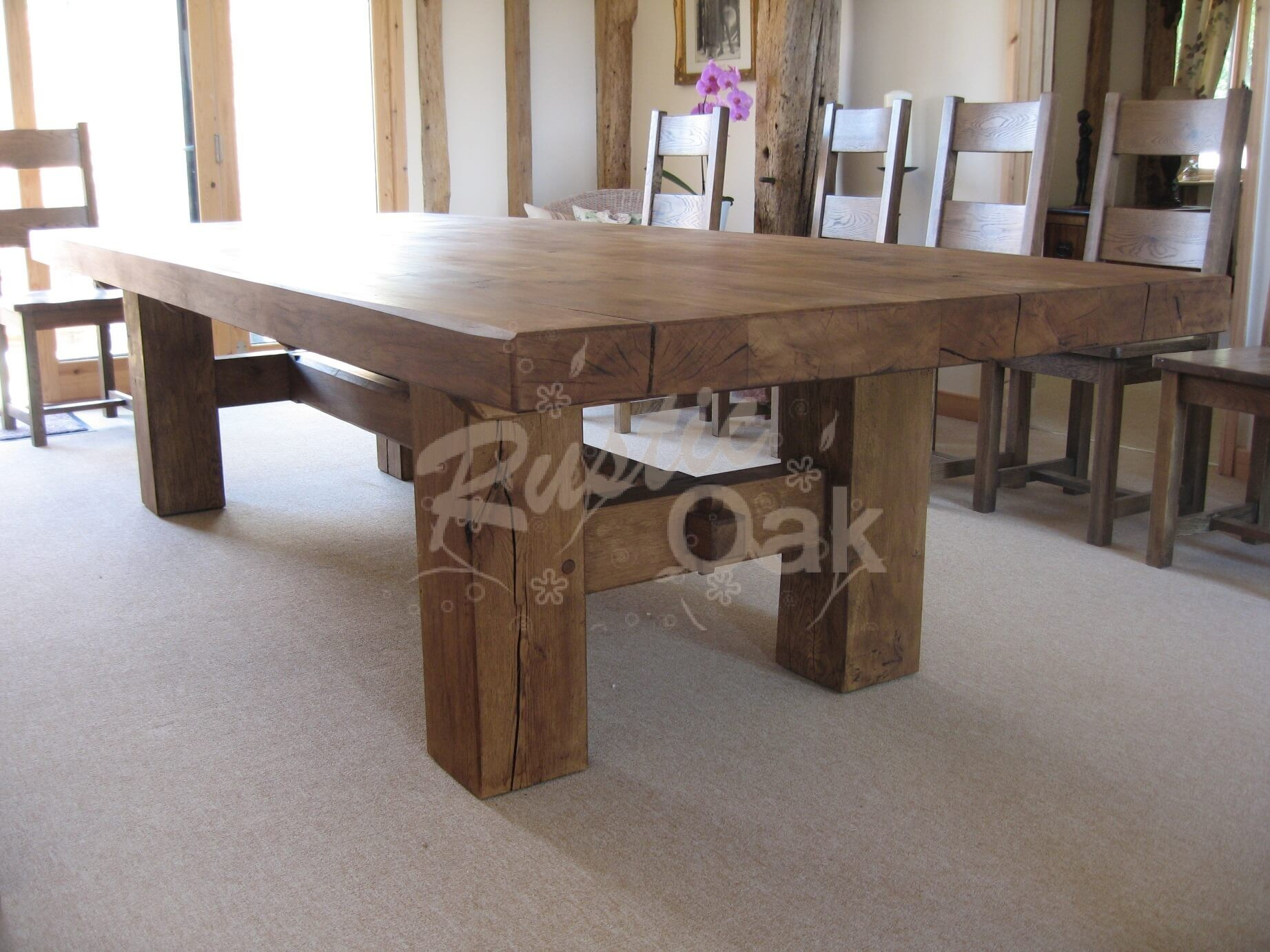 H base dining table