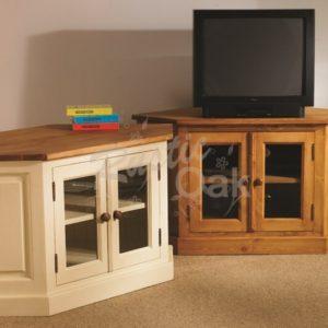 Mottisfont-TV-DVD-Corner-Unit-with-Glzed-Doors-waxed-painted-300x300