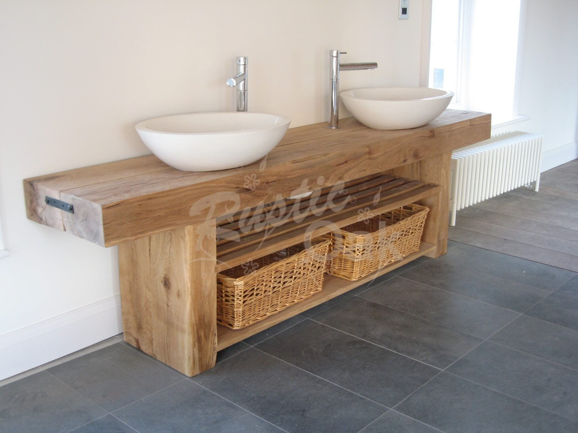 Oak Beam Sink Unit Rustic
