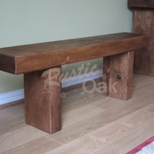 Oak-beam-dining-bench