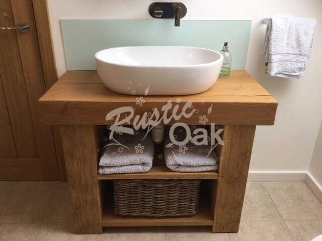 Bathroom Sinks Units oak beam sink unit - rustic oak