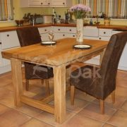 Seasoned-four-leg-dining-table-dressed