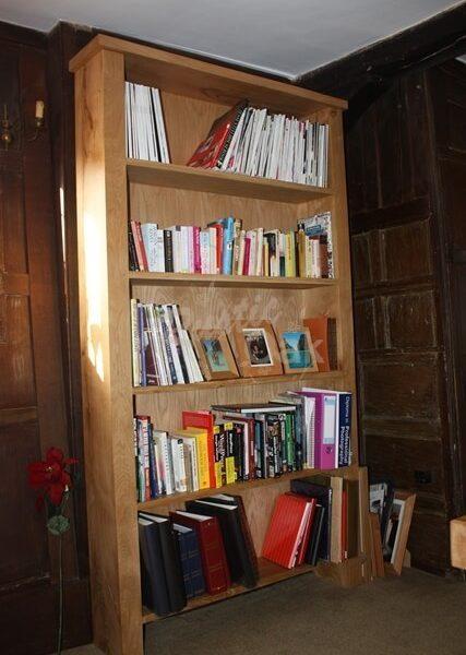 Tall Oak Bookcase Rustic Oak Furniture