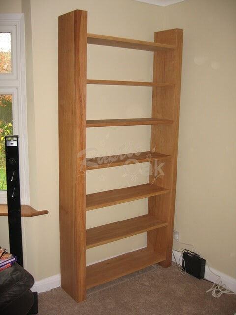 Tall-Oak-Bookcase-open-backed