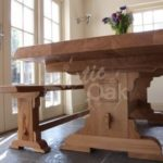 Waney edge refectory dining table – Mar-17 2