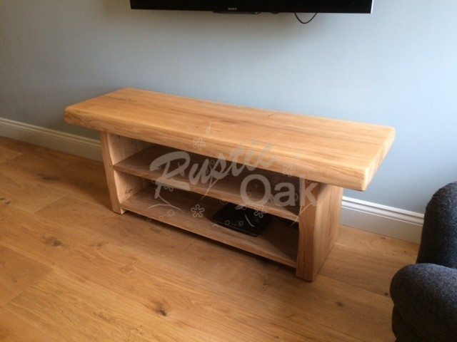 Waney edge TV unit